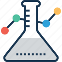 conical flask, erlenmeyer flask, lab equipments, lab flask, testing icon