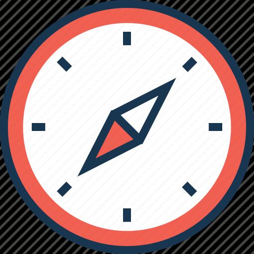 compass, directional tool, gps, navigation, navigational compass icon
