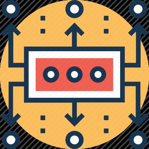 data flow, data planning, planning, work flow, work planning icon