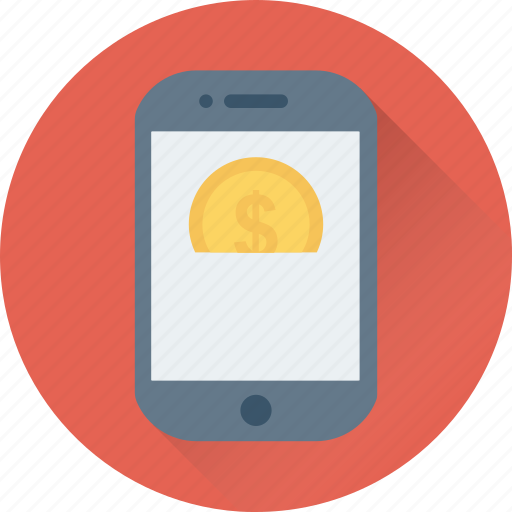 m commerce, mobile, online business, online money, online work icon