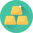 banking, gold, gold ingots, reserve, wealth icon
