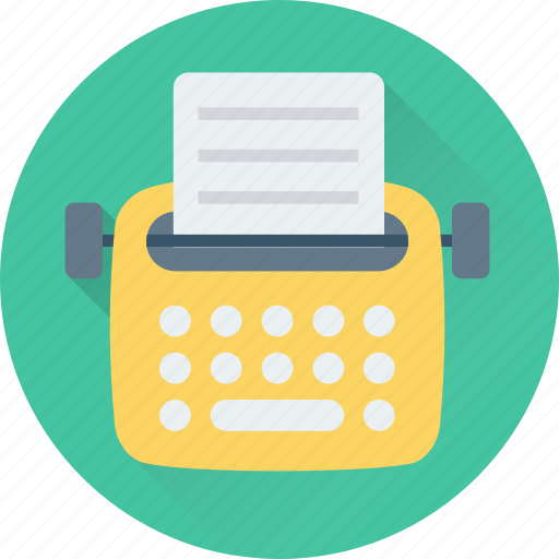 office material, stenographer, typewriter, typing, typing tool icon