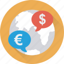 currency exchange, digital currency, euro, globe, money