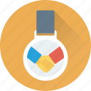 business partner, businessmen, deal, medal, partner icon