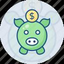 box, coin, finance, money, pig, piggy bank, savings