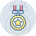achievement, award, badge, medal, star, success, winning