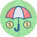 finance, insurance, money, protection, safety, security, umbrella