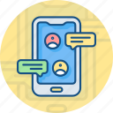 chat, communication, message, mobile, mobile chat, phone, smart phone