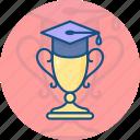 achievement, award, cap, education, graduation, sport, trophy