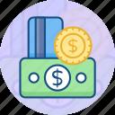 card, cash, credit, methods, money, online, payment