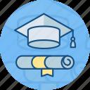 bachelor, cap, certificate, degree, diploma, graduation, graduation cap