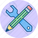 abilities, business, finance, pencil, skills, tools, wrench