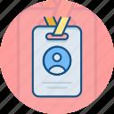 badge, card, employee, employee card, id card, identification, identity card
