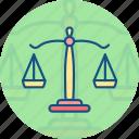 balanced, balanced scale, court symbol, judge, justice, law, law justice icon