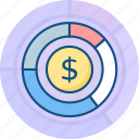 banking, business, chart, currency, finance, graph, money icon
