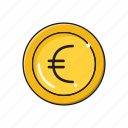 coins, currency, euro, money, saving