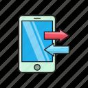 mobile, phone, receive, send, transfer