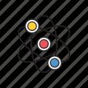 atom, business, molecule, office, science