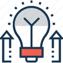 business idea, business innovation, growth idea, idea develop, new idea icon