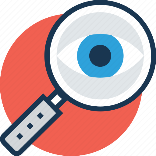 magnifier, magnifying glass, research, search, searching tool icon