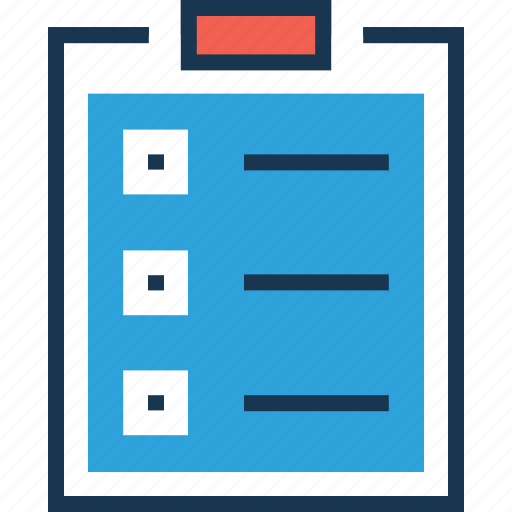checklist, clipboard, list, task, to do icon