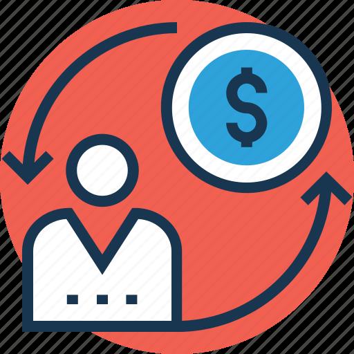 accountant, conversion marketing, financier, investor, marketing manager icon