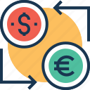 currency exchange, exchange, foreign exchange, money conversion, money exchange icon