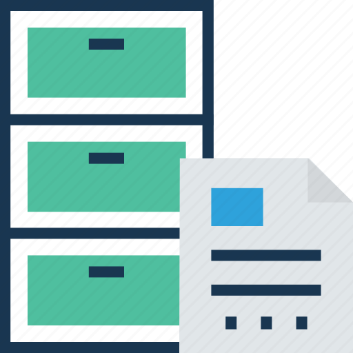 documents, file drawer, file folders, file storage, files icon
