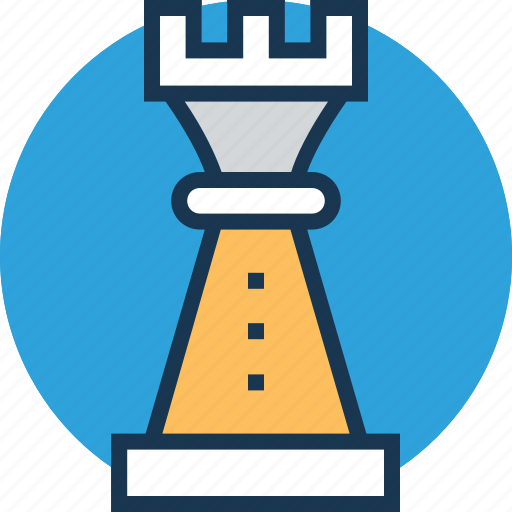 business strategy, check rook, market strategy, strategy, technology icon