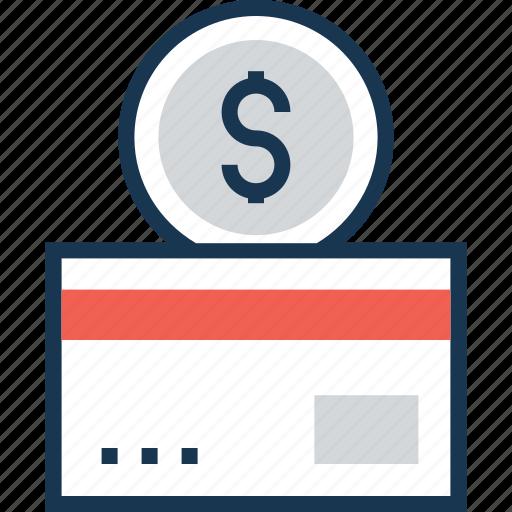 coin, credit card, debit card, dollar, dollar coin icon