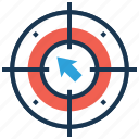 behavioral targeting, crosshair, focus, goal, target