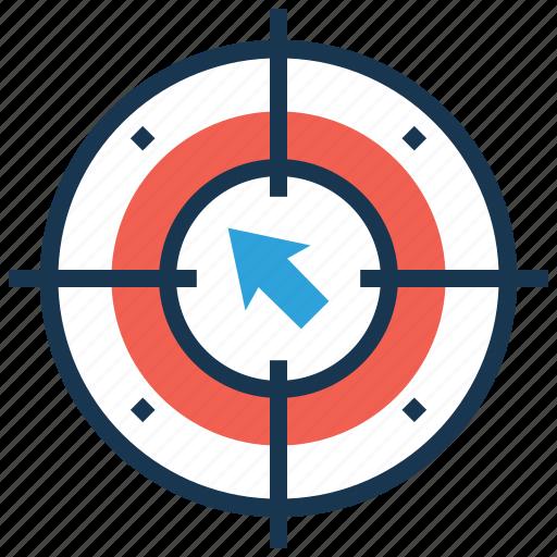 behavioral targeting, crosshair, focus, goal, target icon