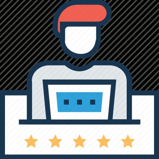 course, freelancer, presentation, public speaker, training icon