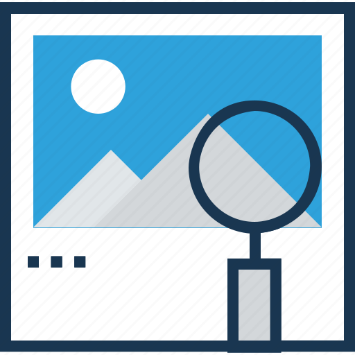 find image, find landscape, image search, magnifying, search glass icon