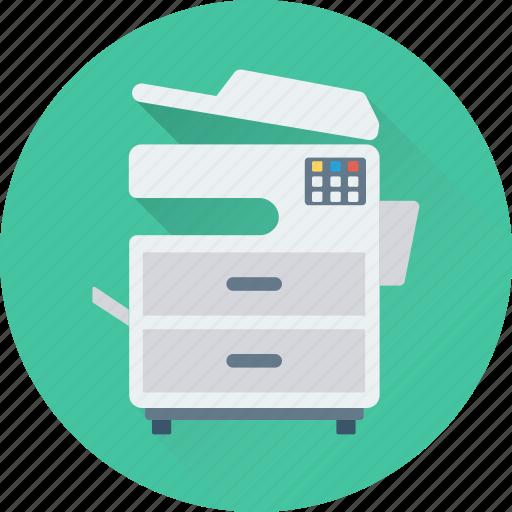 copier, copy machine, office supplies, photocopier, photocopy machine icon