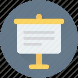 artboard, easel board, lecture, presentation, presentation board icon