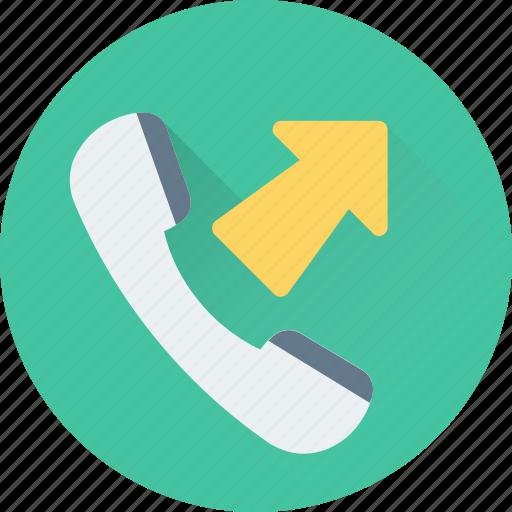 calling, landline, outgoing call, phone call, receiver icon