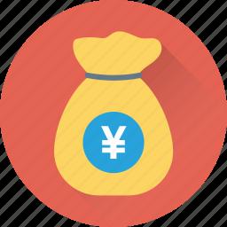 currency sack, money bag, money sack, pound sack, wealth icon
