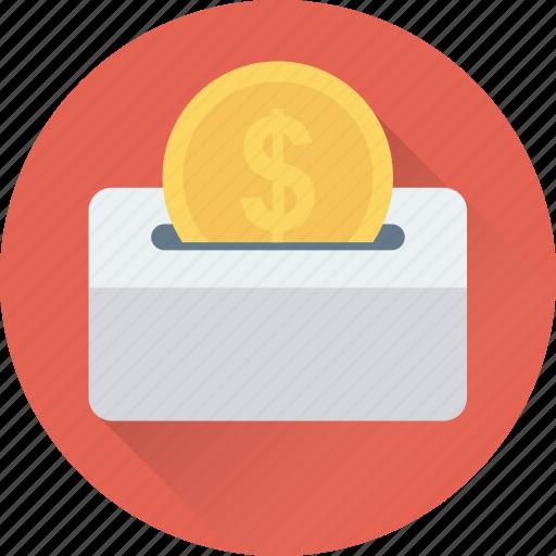 coin, coin slot, dollar, insert coin, usd icon