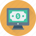 banking, business, dollar, online banking, web icon