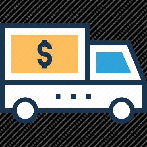 bank van, delivery, delivery van, shipping truck, van icon