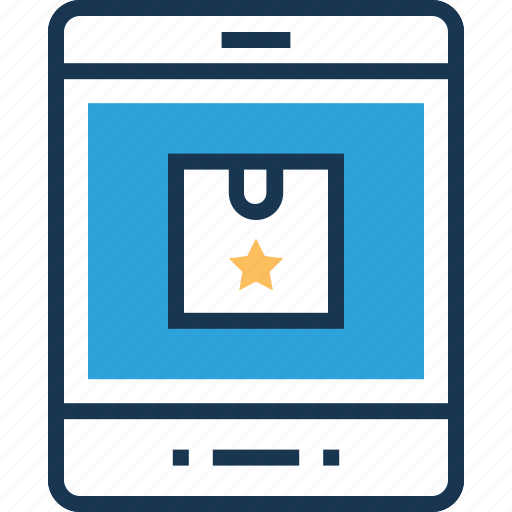 delivery, digital delivery, m commerce, mobile phone, online shopping icon