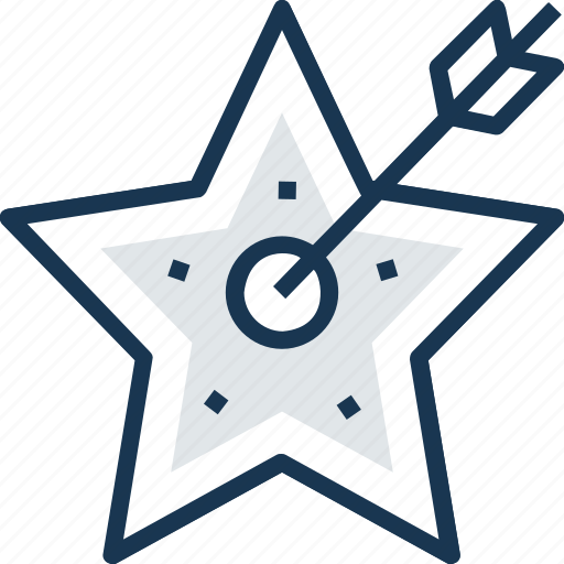 aim, mind awareness, objective, star, target icon