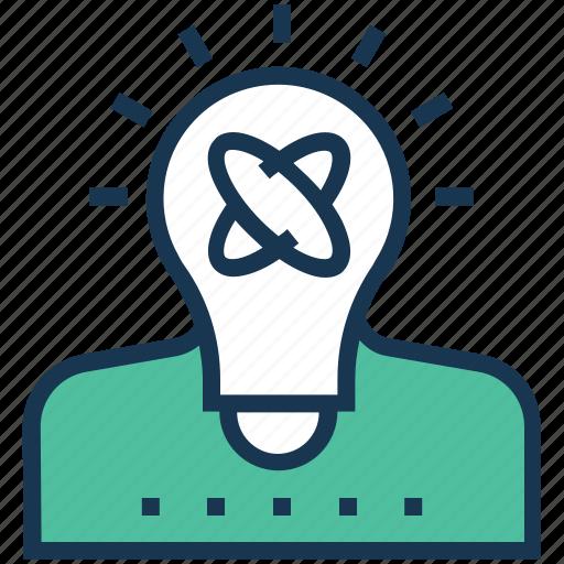 creativity, generate idea, idea, idea develop, personal solution icon