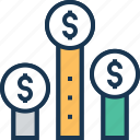 client worth, customer profitability, profit graph, profit scale, value icon