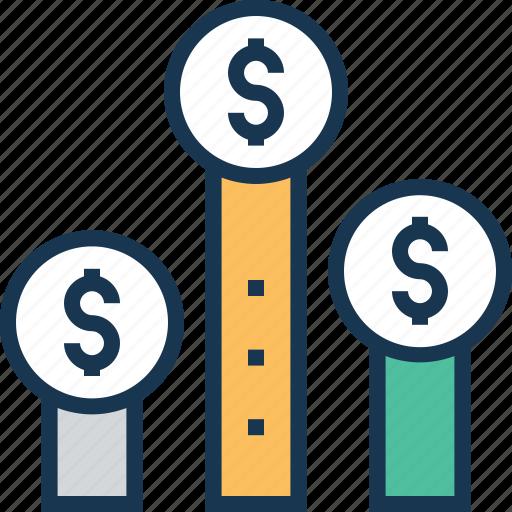 client worth, customer profitability, profit graph, profit scale, value icon