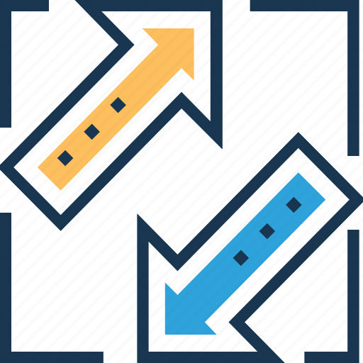 absorption, arrows, competing interests, inclusion, interest rate icon