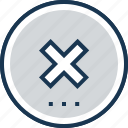 cancel, cross, delete, failure, failure mark icon