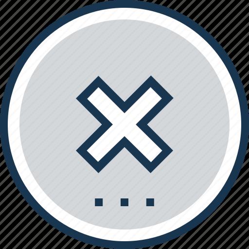 cancel, cross, delete, failure, failure mark icon