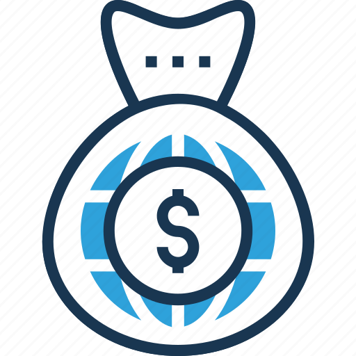 currency sack, dollar sack, money sack, online earning, working capital icon